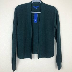 Apt 9 shimmer green open front sweater
